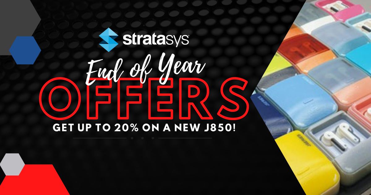 Image of Stratasys End of Year Offers: Get Up to 20% on a New J850