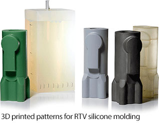 Faster, Cheaper RTV Silicone Molding Using FDM and PolyJet 3D Printing