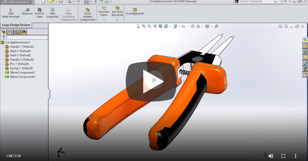 Image of Large Design Review in SOLIDWORKS