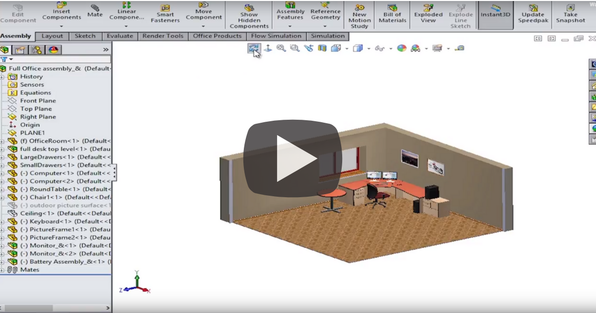 Image of Orienting Your Models in SOLIDWORKS