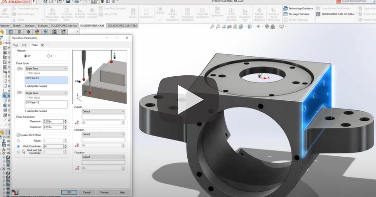 Image of Create a New Probing Operation with SOLIDWORKS CAM