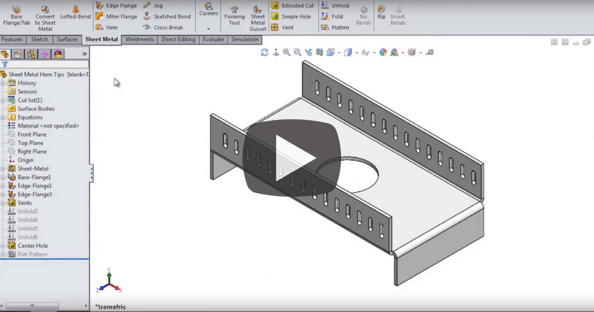 Image of Making Sheet Metal Parts Easy in SOLIDWORKS