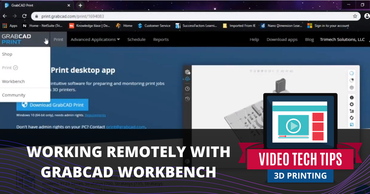 Working Remotely With GrabCAD Workbench