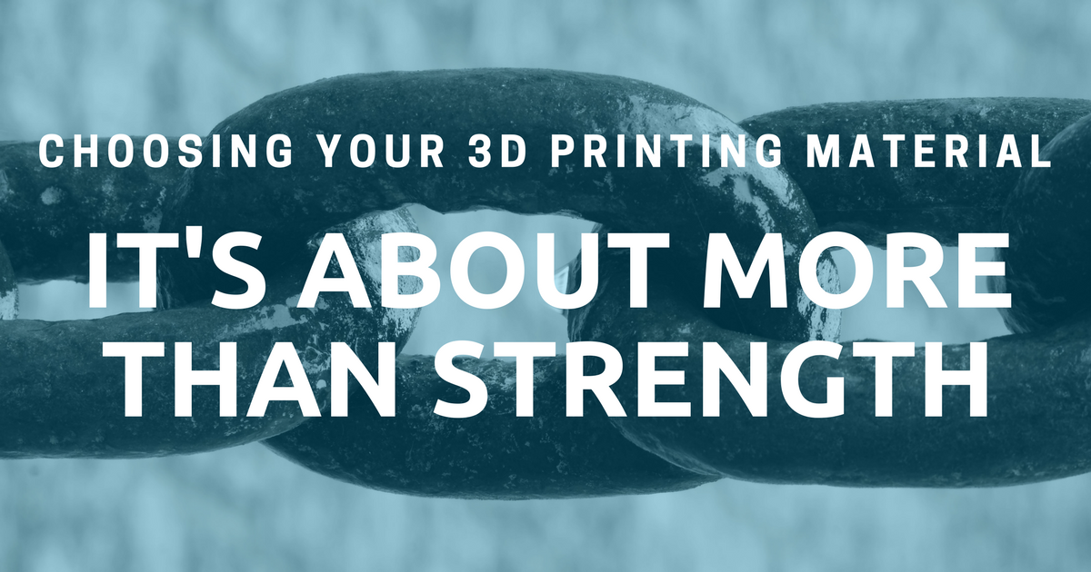 Choosing Your 3D Printing Material: It's About More Than Strength!