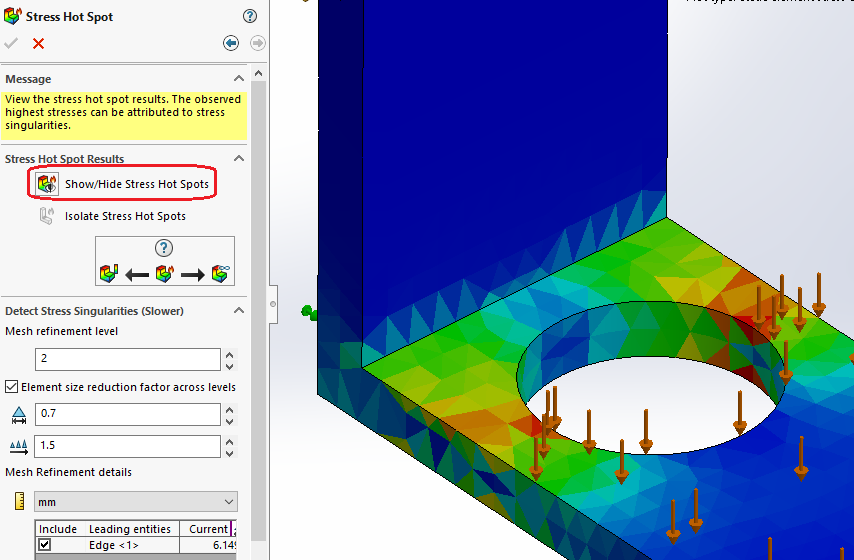 Plotting Hot Spots in SOLIDWORKS Simulation