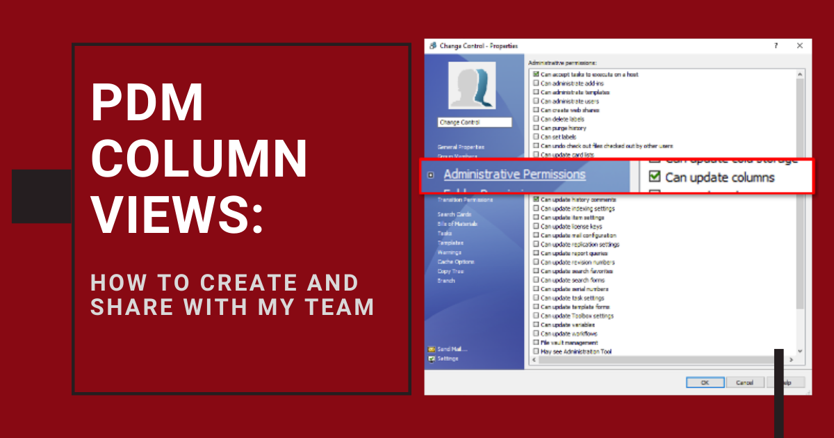 PDM Column Views: How to Create and Share with Your Team