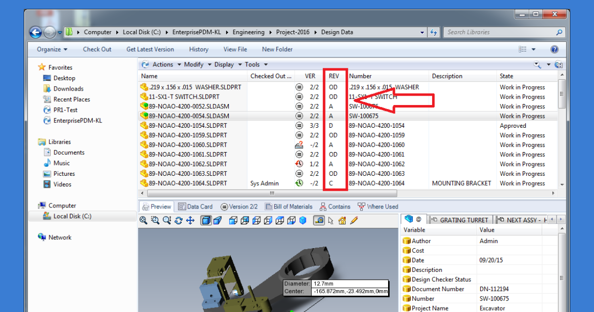 Understanding the Difference Between Versions and Revisions in SOLIDWORKS PDM