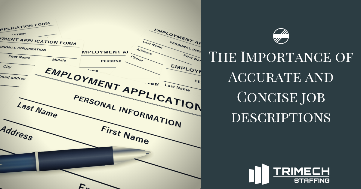 The Importance of Accurate and Concise Job Descriptions