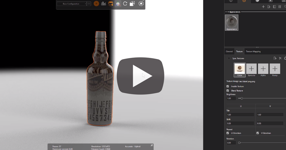 Image of Creating Multi-Layered Appearances in SOLIDWORKS Visualize