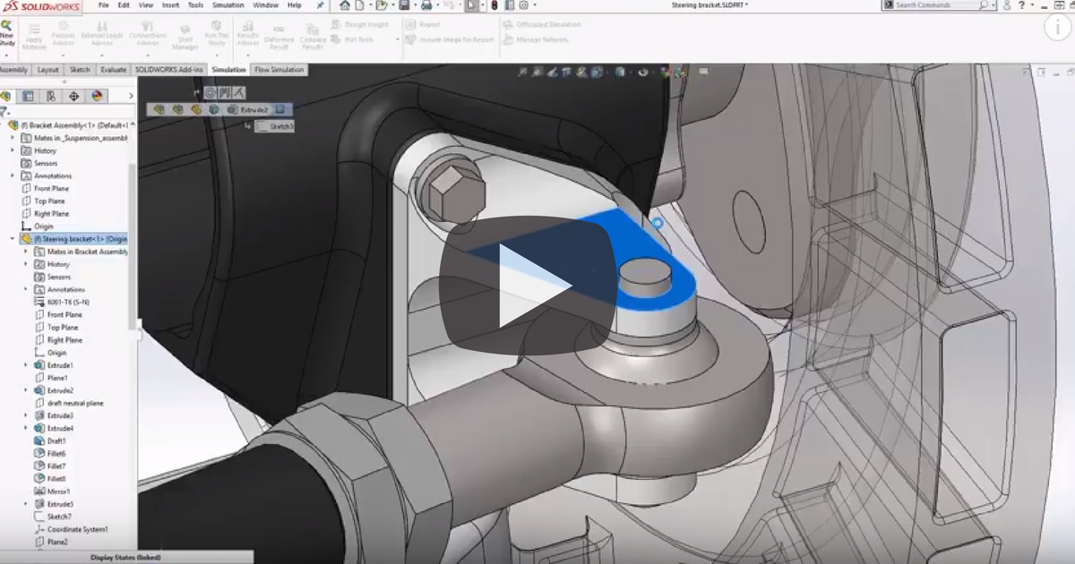 Image of Topology Optimization in SOLIDWORKS