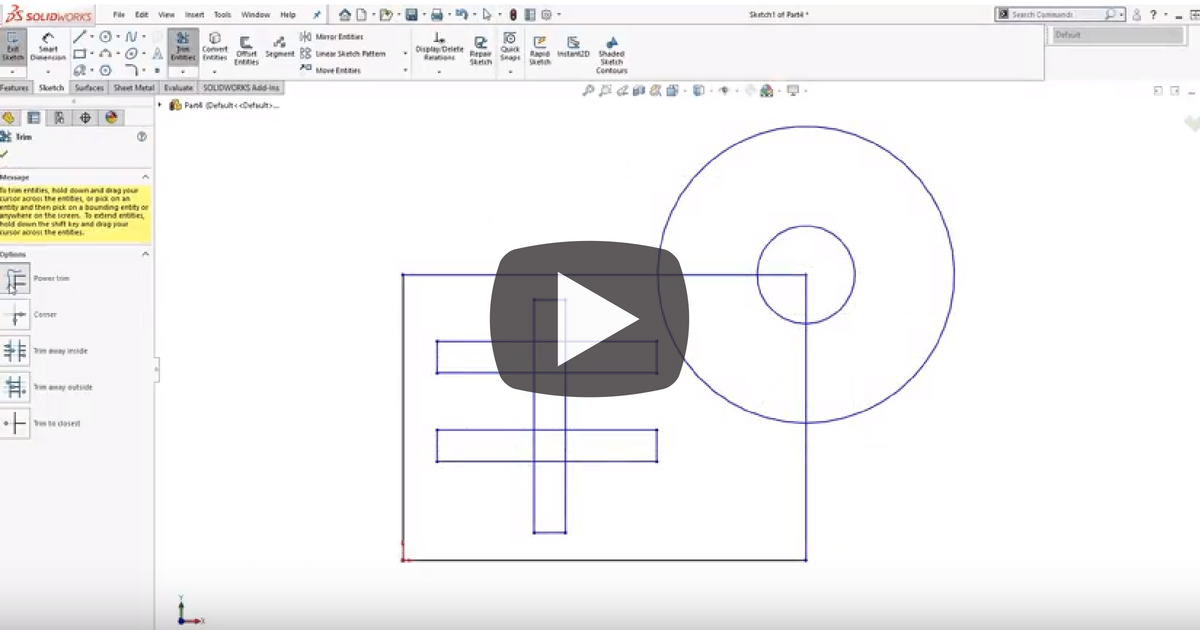 Image of Secret Powers Of The Trim Tool in SOLIDWORKS