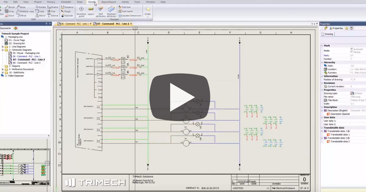 efficient schematic design: add/hide cross reference lists in solidworks  electrical