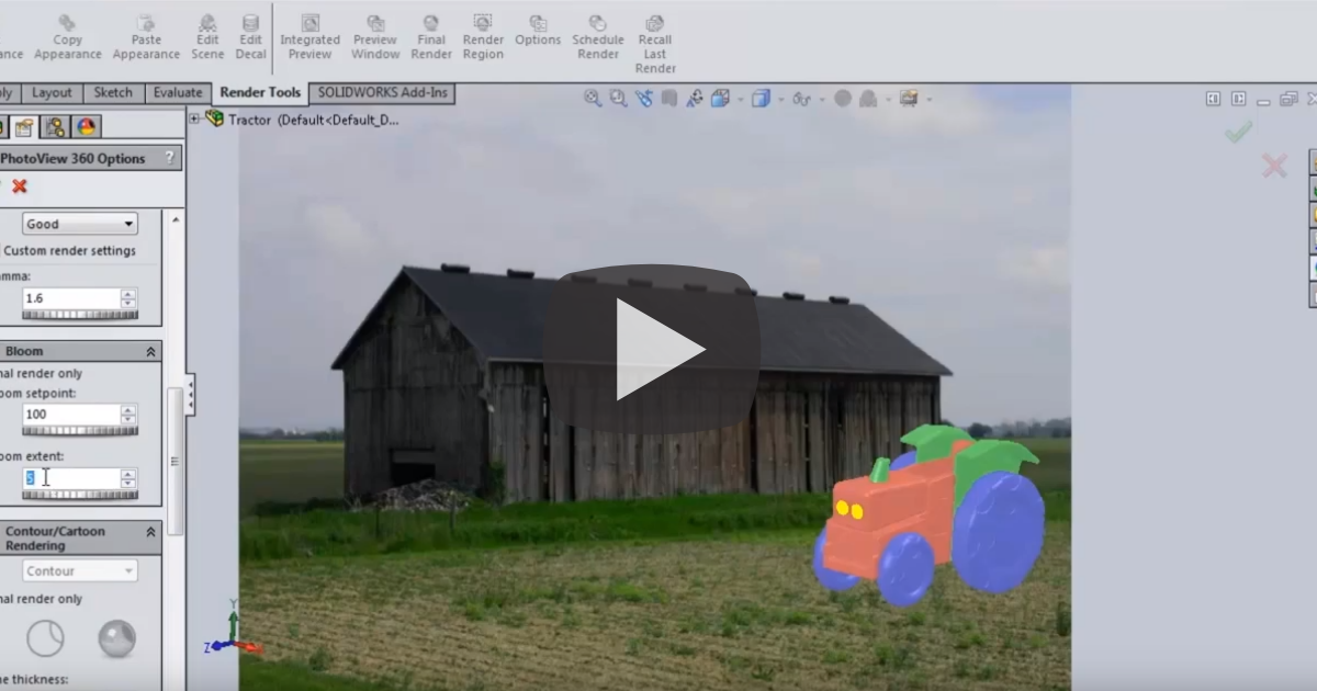 Image of Bloom Effects in SOLIDWORKS PhotoView 360