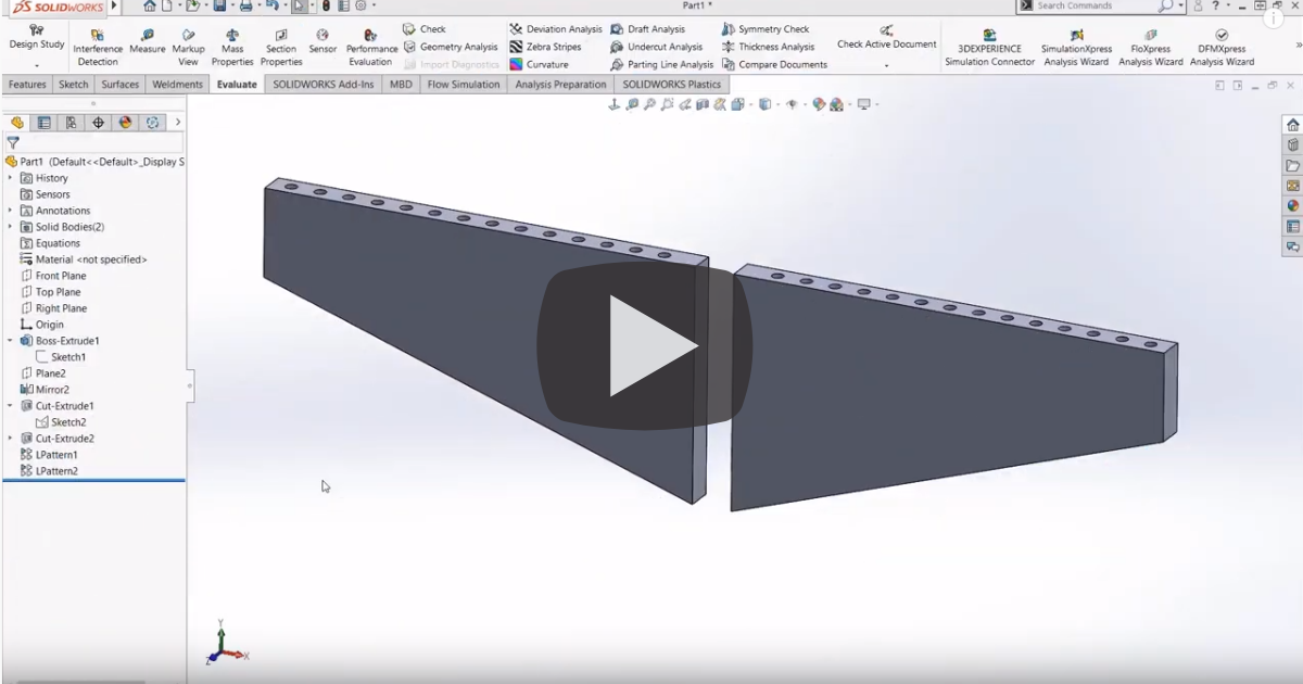 Image of Close Up Look at Geometry Patterns in SOLIDWORKS