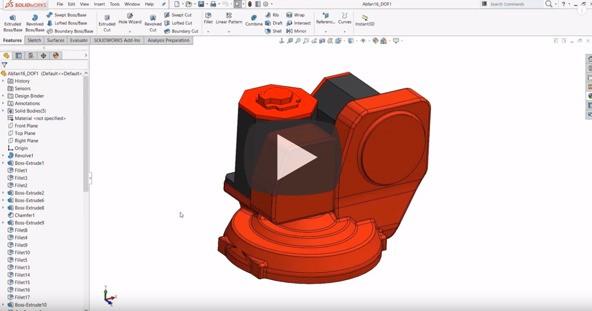 Image of Customizing The Normal To View Orientation In SOLIDWORKS