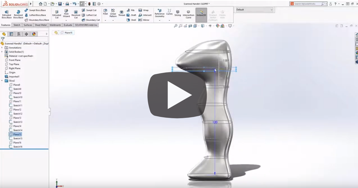 Image of Enhancements Made To Part Modeling In SOLIDWORKS
