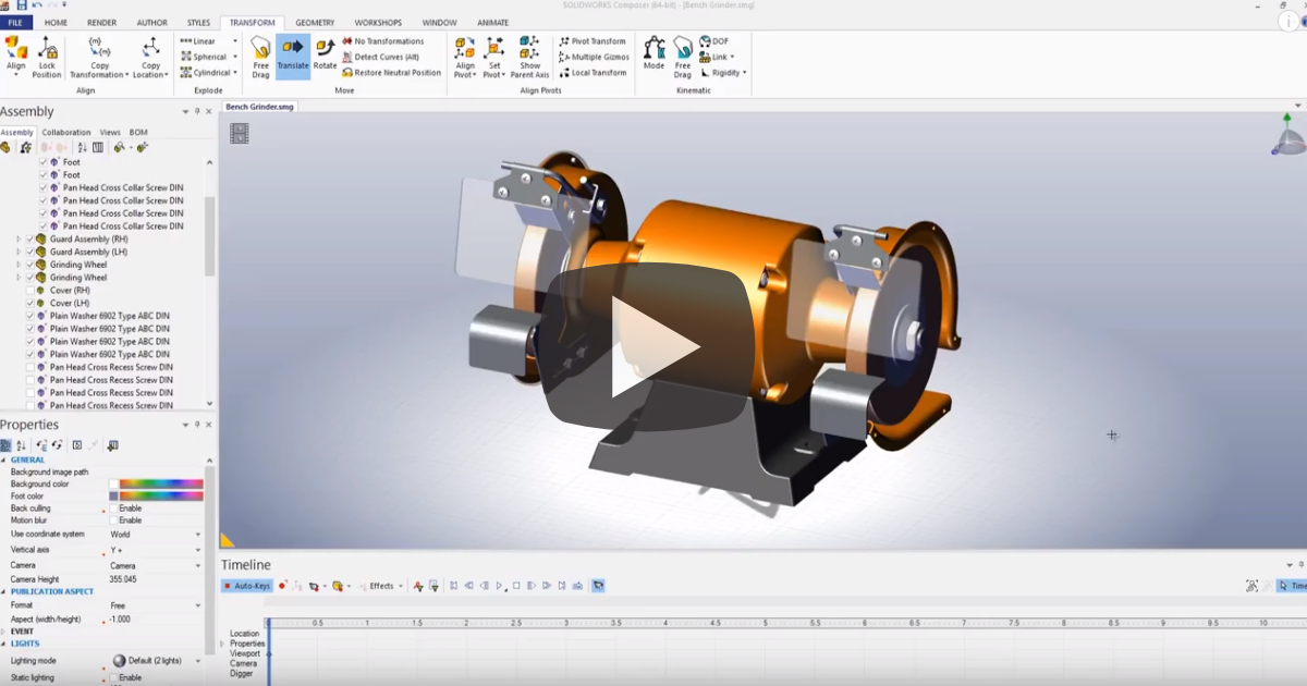 Image of Explode Animations in SOLIDWORKS Composer
