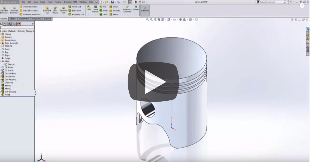 Image of Reorienting Parts and Coordinate Systems in SOLIDWORKS