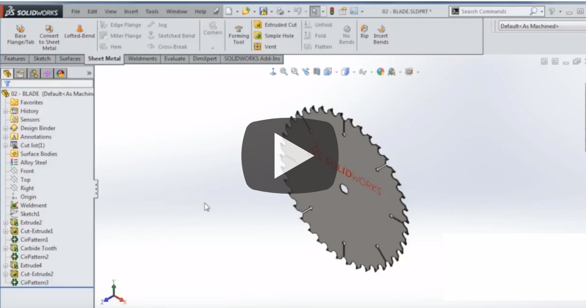 Image of SOLIDWORKS Sheet Metal: Body and Fill Patterns