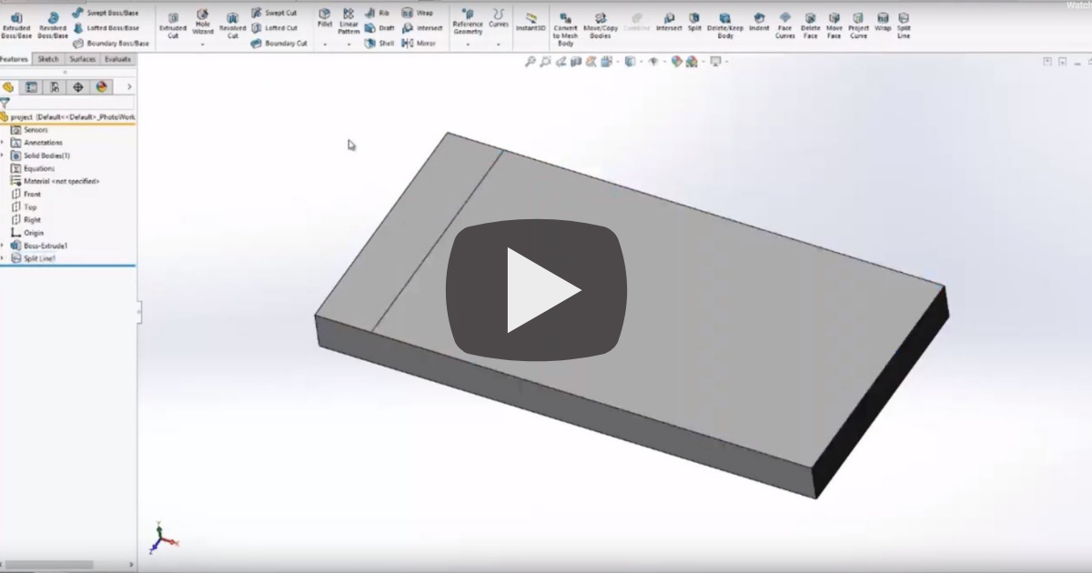 Image of Three Ways to Use Split Line in SOLIDWORKS
