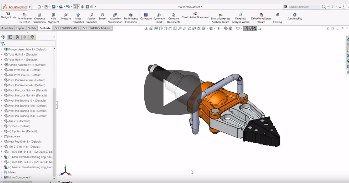 Image of Understanding the Assembly Visualization Tool in SOLIDWORKS