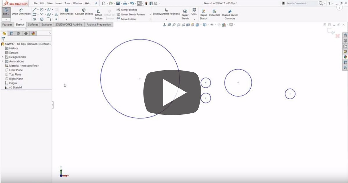 Image of Using Lasso and Box Selection Tools in SOLIDWORKS