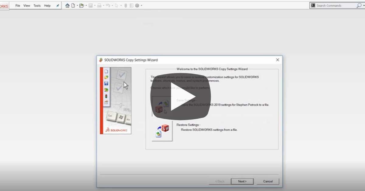 Image of Save and Restore Your Customizations and UI in SOLIDWORKS