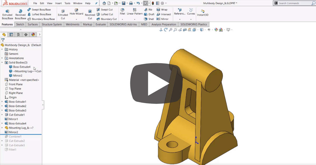 Image of Customizing the SOLIDWORKS User Interface on the Fly