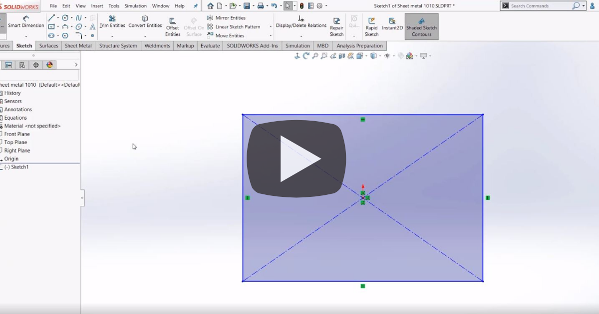 Image of Getting Started With Sheet Metal in SOLIDWORKS