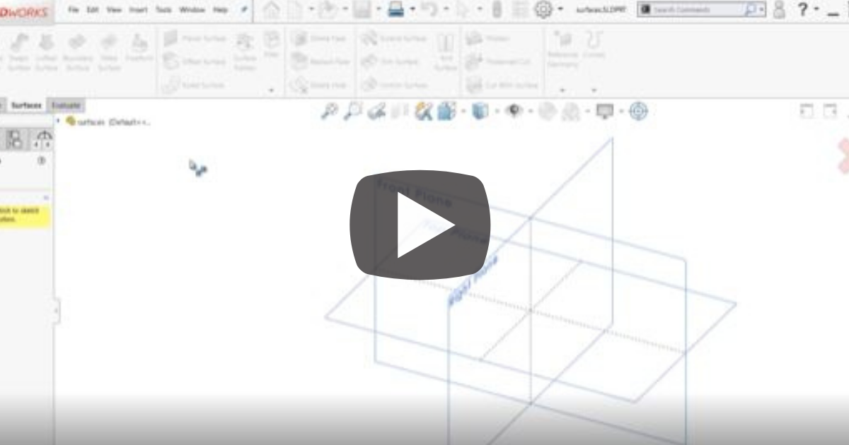 Image of Getting Started With Surface Modeling in SOLIDWORKS