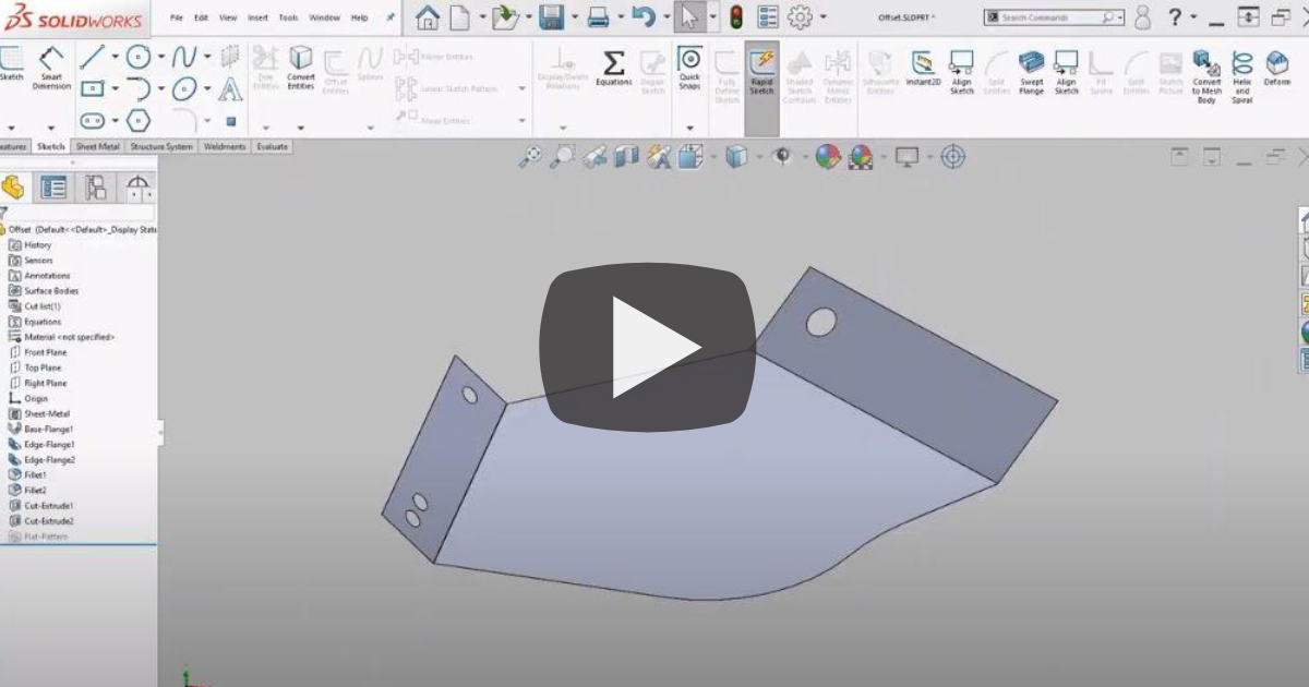 Image of How To Use Offset Entities in SOLIDWORKS
