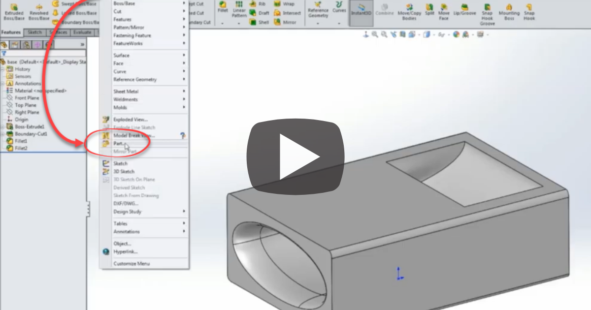 Image of How to Insert a Part Into a Part with SOLIDWORKS