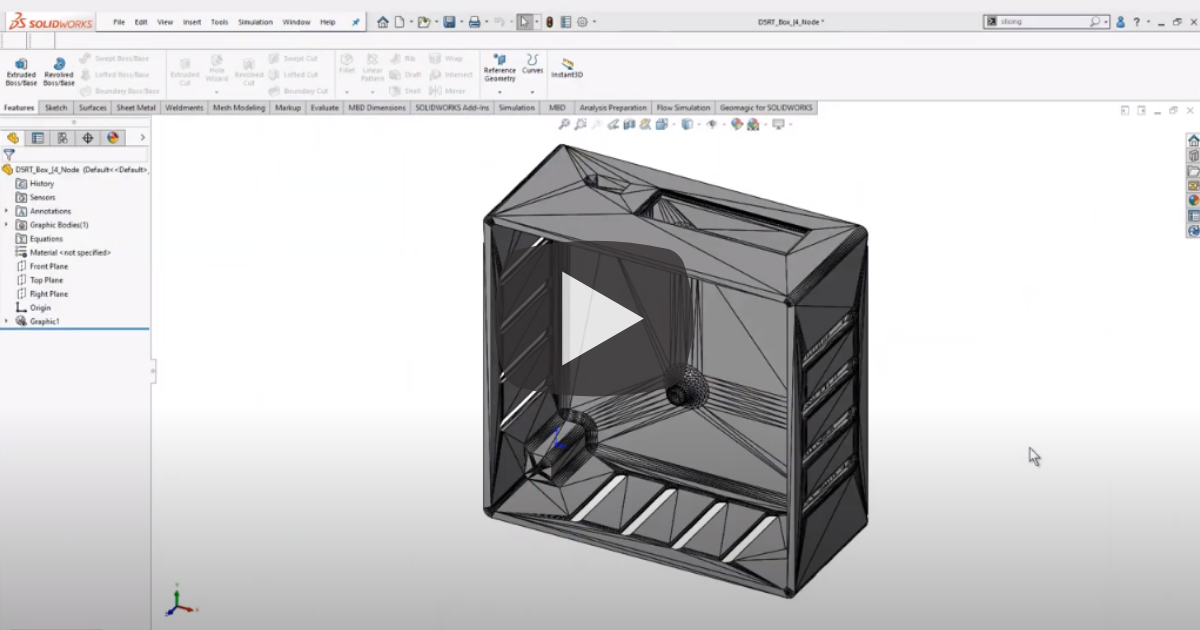 Image of Reverse Engineering With the Slicing Tool in SOLIDWORKS