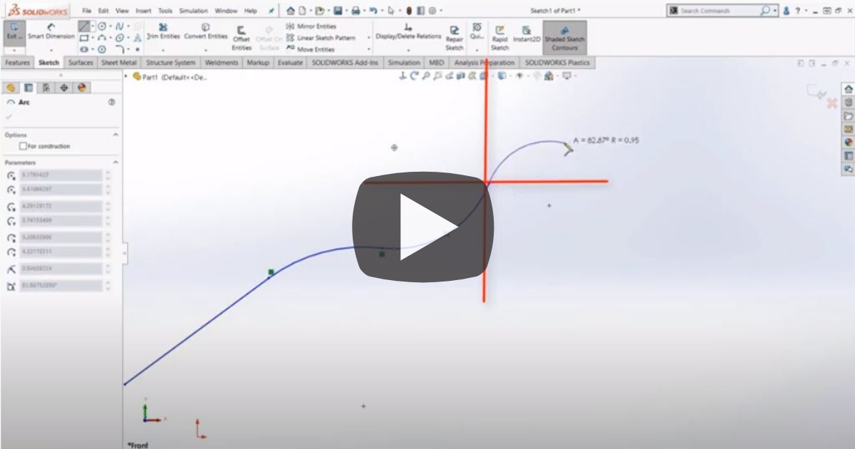 Image of SOLIDWORKS Sketching Shortcuts and Quick Tips