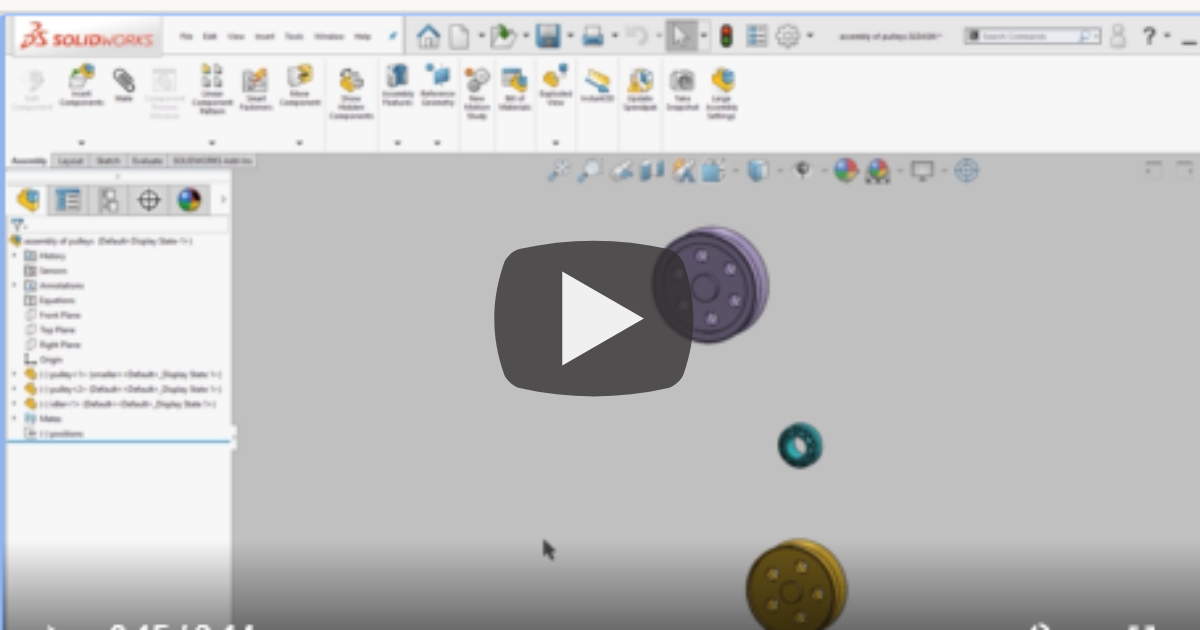 Image of Working With Belt and Chain in SOLIDWORKS