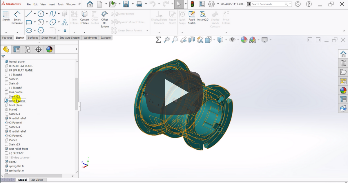 Image of Change How You View Your Feature Tree in SOLIDWORKS