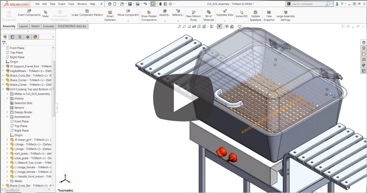 Image of Working with Selection Sets in SOLIDWORKS
