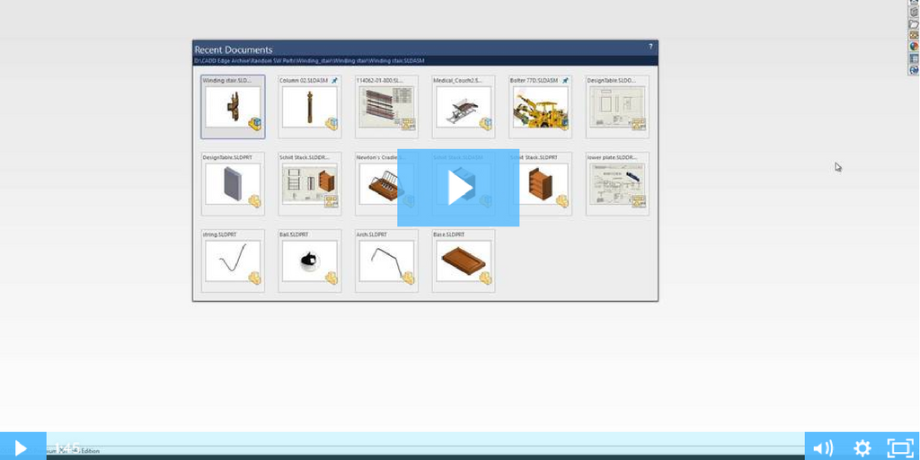 Image of SOLIDWORKS Parts and Assemblies Part 1: Using the