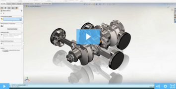 Image of SOLIDWORKS Parts and Assemblies Part 2: Pattern Driven Component Pattern