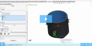 Image of Static Study in SOLIDWORKS Simulation: Hydrostatic Pressure